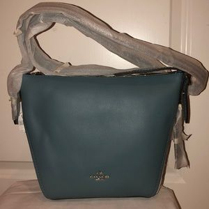 Coach Blue Dufflette Crossbody bag